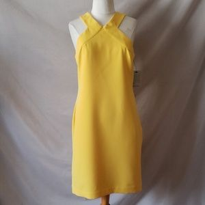 Laundry By Shellie Segal Yellow Halter Style Dress